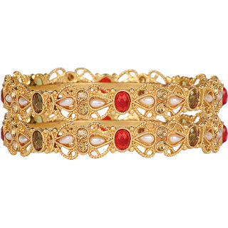 Ds Multicolor Party Wear Polki Bangles for Women(Ds249)