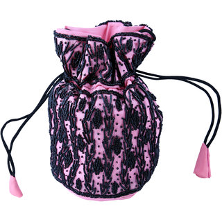 Sidz Fali Work Tradition Bhopali Designer Classic Batua Potli Bag/ Party Bag /Hand Bag/Make Up Bag / Pouch (Dimensions
