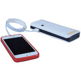 Super Ultra Shine Portable Battery Charger 13000 MAh Power Bank  White