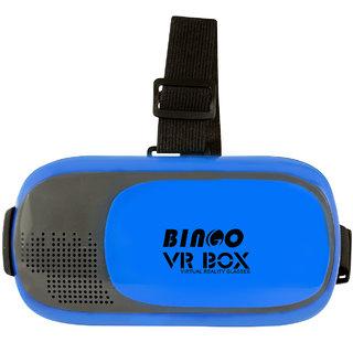 b6bb20730d4a Buy Bingo Blue V200 2.0 Virtual Reality 3D VR Headset Video Glass Online    ₹489 from ShopClues