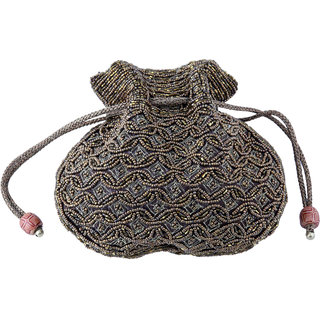 Sidz Chameli Tradition Bhopali Designer Classic Batua Potli Bag/ Party Bag /Hand Bag/Make Up Bag / Pouch (Dimensions 20