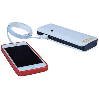 Hobins P3 Ultra Shine Portable Battery Charger 20000 MAh Power Bank (White)