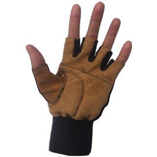 Greenbee Brown Gym Gloves N