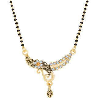 a66745f283 The Luxor Designer Floral Gold Plated Mangalsutra available at ShopClues  for Rs.131