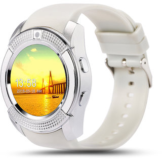 Bingo C6 White Smartwatch With Bluetooth and Sim Enabling Feature Support Android and IOS System