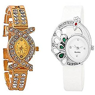 STAR Fashion Analog Woman Combo Watches-AKSWhiteMore White Color