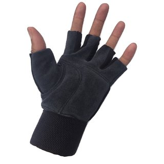 Greenbee Black/Grey Gym Gloves
