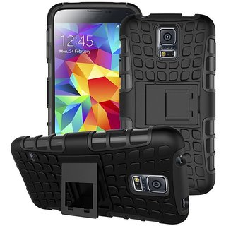 SIFAT  Hybrid Dual Layer Defender Kickstand Hard Back Cover Case For LeEco Letv Le2s - BLACK