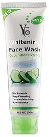 YC new Whitening Face Wash with Cucumber Extract PACK OF 6 PCS