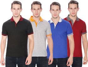 Pack of 4 Men Polo T-Shirt by Baremoda (Multicolor)
