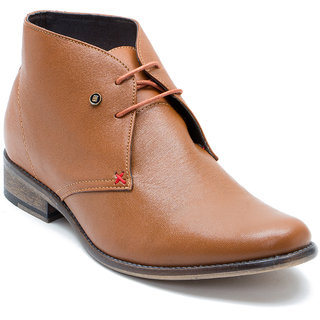 Franco Leone Tan Leather Boots