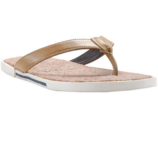 3684eef1e701 Buy Franco Leone Beige Synthetic Slippers And Flip Flops Online ...