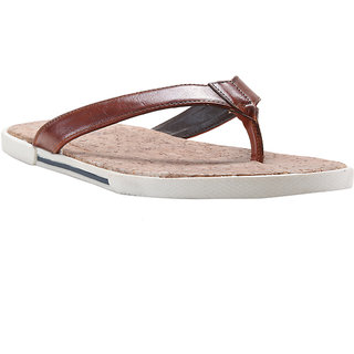 d0ddfc743fab Buy Franco Leone Tan Synthetic Slippers And Flip Flops Online ...