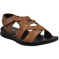 Franco Leone Beige Leather Sandals And Floaters