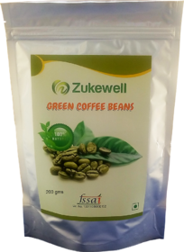 Zukewell Green Coffee Beans Unroasted Arabica Coffee Beans - 200gm for Weight Loss Management Pack of 1