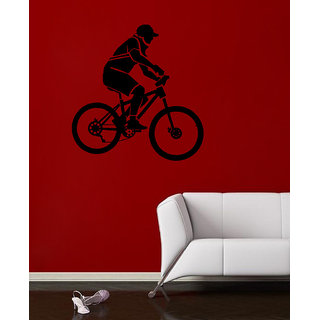 Decor Villa Wall Sticker (Bicycle ,Surface Covering Area 23 x 24 Inch)