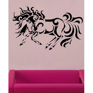 Decor Villa Wall Sticker (Horse With Fire ,Surface Covering Area 20 x 17 Inch)