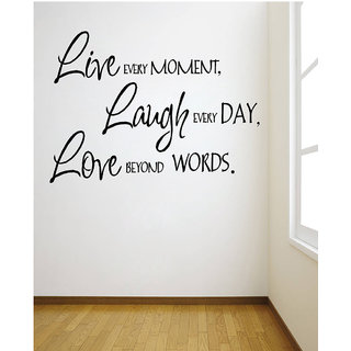 Decor Villa Wall Sticker (Live Every Moment ,Surface Covering Area 24 x 17 Inch)