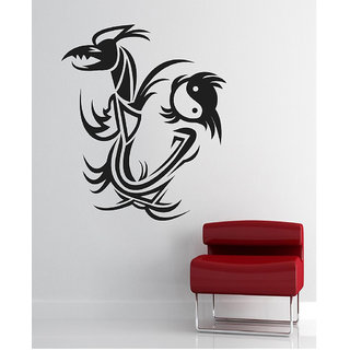 Decor Villa Wall Sticker (Hunter Flower ,Surface Covering Area 20 x 24 Inch)