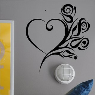 Decor Villa Wall Sticker (Fly Heart ,Surface Covering Area 20 x 21 Inch)