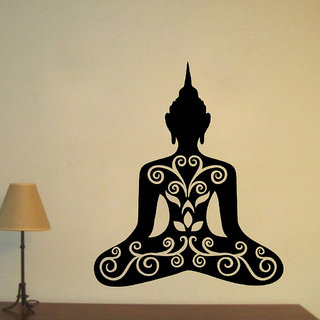 Decor Villa Wall Sticker (Buddha ji ,Surface Covering Area 23 x 27 Inch)
