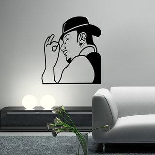Decor Villa Wall Sticker (Yo Yo Honey Singh ,Surface Covering Area 23 x 26 Inch)
