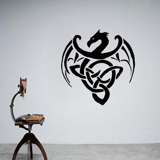 Decor Villa Wall Sticker (Dragon Logo ,Surface Covering Area 17 x 17 Inch)