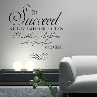 Decor Villa Wall Sticker (To Succeed  ,Surface Covering Area 22 x 23 Inch)