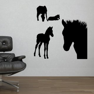 Decor Villa Wall Sticker (Horse ,Surface Covering Area 20 x 20 Inch)