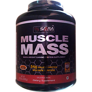 Saara Nutrition MUSCLE MASS  Powder - 6.6lbs (3kg) Chocolate