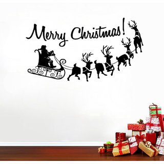 Decor Villa Wall Sticker (Merry Christmas ,Surface Covering Area 31 x 17 Inch)