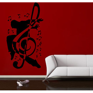 Decor Villa Wall Sticker (Let's Music ,Surface Covering Area 20 x 36 Inch)