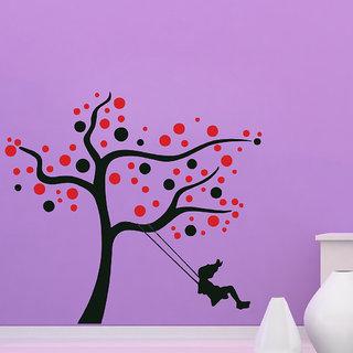 Decor Villa Wall Sticker (Alone Girl ,Surface Covering Area 25 x 23 Inch)