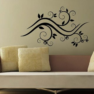 Decor Villa Wall Sticker (Swirl ,Surface Covering Area 28 x 16 Inch)