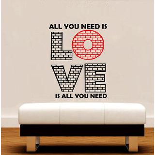 Decor Villa Wall Sticker ( All U Need ,Surface Covering Area 20 x 27 Inch)