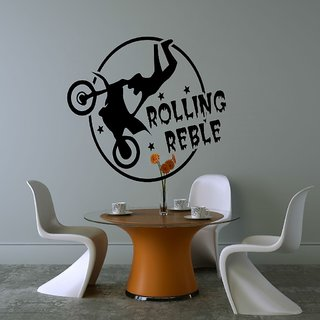 Decor Villa Wall Sticker (Rolling reble Wall ,Surface Covering Area 18 x 17 Inch)