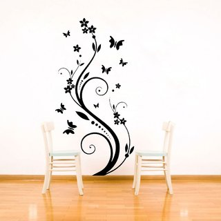 Decor Villa Wall Sticker (Fly Butterfly ,Surface Covering Area 17 x 44 Inch)