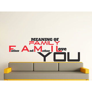 Decor Villa Wall Sticker ( Meaning Of Family Wall ,Surface Covering Area 33  x 11 Inch)