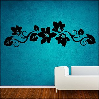 Decor Villa Wall Sticker (Nice floral ,Surface Covering Area 80 x 23 Inch)