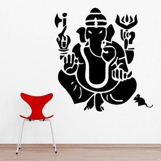 Decor Villa Wall Sticker (Shri Ganesh Ji ,Surface Covering Area 20 x 21 Inch)
