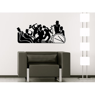 Decor Villa Wall Sticker (music band ,Surface Covering Area 37 x 17 Inch)
