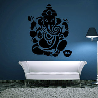 Decor Villa Wall Sticker (Ganesh ji god ,Surface Covering Area 23 x 28 Inch)