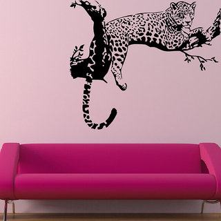 Decor Villa Wall Sticker (Tiger on tree ,Surface Covering Area 27 x 23 Inch)