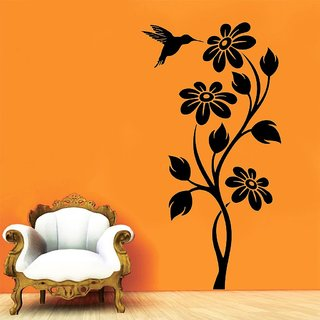 Decor Villa Wall Sticker (Flower ,Surface Covering Area 17 x 35 Inch)