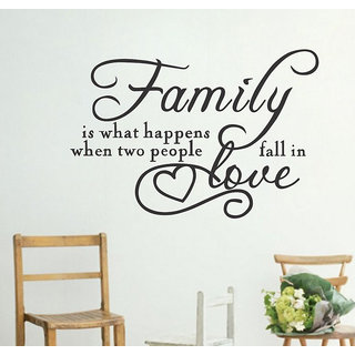 Decor Villa Wall Sticker (What happens ,Surface Covering Area 17 x 24 Inch)