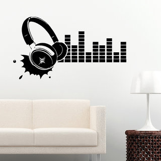 Decor Villa Wall Sticker (Music sound wave ,Surface Covering Area 31 x 17 Inch)