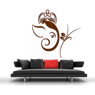 Decor Villa Wall Sticker (Om with flower ,Surface Covering Area 23 x 23 Inch)