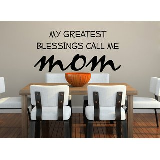 Decor Villa Wall Sticker (My mom ,Surface Covering Area 48 x 23 Inch)