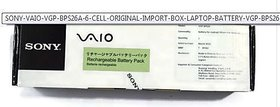 SONY VAIO VGP-BPS26A - 6 CELL ORIGINAL IMPORT BOX LAPTOP BATTERY VGP-BPS26