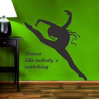 Decor Villa Wall Sticker ( Dance Like Nobody Wall ,Surface Covering Area 20 x 29 Inch)